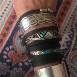 Vintage heavy SS/Native American cuff